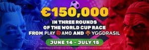 Yggdrasil & PlayAmo Casino World Cup €150 000 Competition