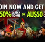 AU$50 FREE CHIP Bonus