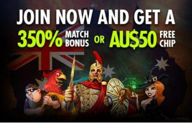 AU$50 FREE CHIP Bonus 1