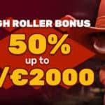 Special PlayAmo High Roller Bonus 50% up to $ 2000