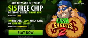Raging Bull casino $15 Free Chip