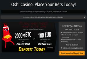Oshi Casino Codes and Bonuses 2019 31