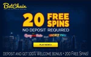 Betchain 20 FREE SPINS - NO DEPOSIT 2