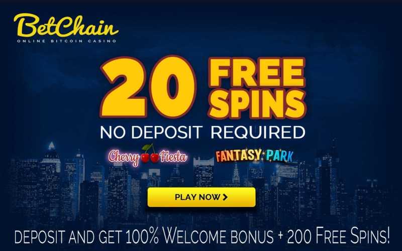 Betchain 20 FREE SPINS - NO DEPOSIT 21