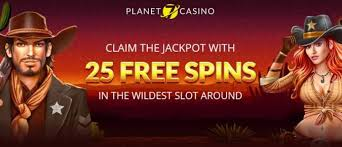 25 FREE SPINS Bonus codes at Planet 7 OZ 4