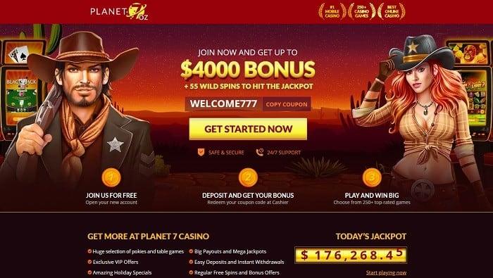 Planet 7 OZ Casino $4000 Epic Bonus 3